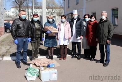 Міська лікарня та центр первинної медико-санітарної допомоги отримали засоби індивідуального захисту для медичного персоналу