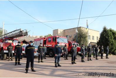 Колектив 16-ї Державної пожежно-рятувальної частини Ніжина привітали з професійним святом