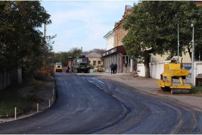 У Ніжині триває капітальний ремонт доріг