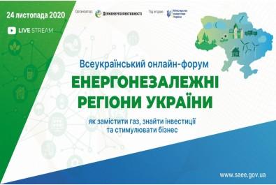 Всеукраїнський онлайн-форум «Енергонезалежні регіони України: як замістити газ, знайти інвестиції та стимулювати бізнес»