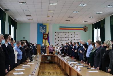 Відбулася перша сесія Ніжинської міської ради. Міський голова та депутати склали присягу