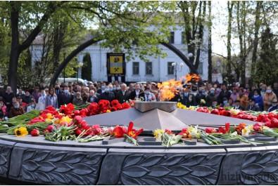 Відбувся мітинг до Дня Перемоги над нацизмом у Другій світовій війні