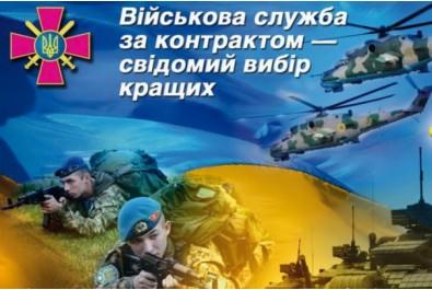 «Військова служба за контрактом - свідомий вибір кращих» на посадах рядового, сержантського складу (для військовозобов'язаних та цивільних громадян)