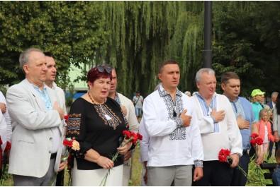 Біля пам'ятника «Борцям за Незалежність» відбувся урочистий мітинг, присвячений 30-ї річниці незалежності України