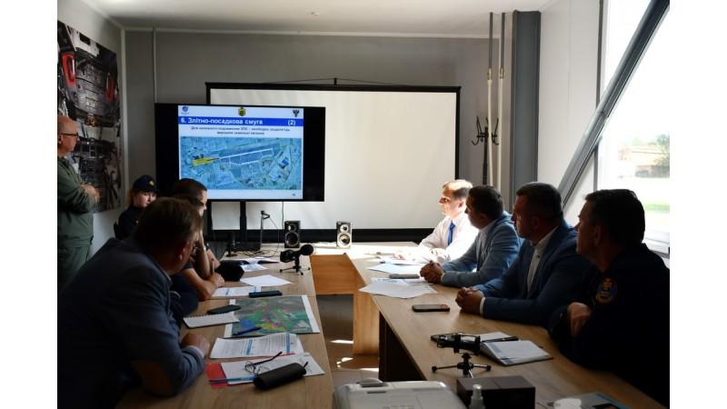 """Відбулась робоча зустрічі зі створення на базі аеродрому """"Ніжин"""" авіаційно-логістичного комплексу з мультимодальних перевезень"""