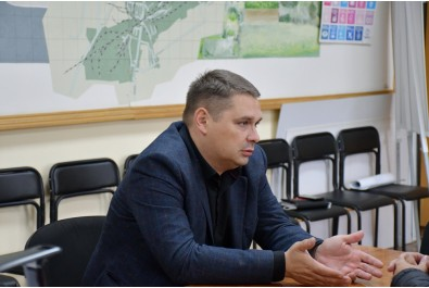 Перший заступник міського голови Федір Вовченко провів робочу зустріч з начальником Ніжинського відділення АТ «Чернігівгаз» Володимиром Щуром